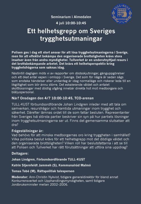 Almedalen TULL-KUST